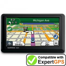 Download your Garmin nüvi 1490T waypoints and tracklogs and create maps with ExpertGPS