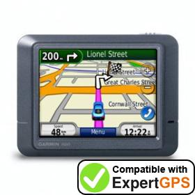 Download your Garmin nüvi 215 waypoints and tracklogs and create maps with ExpertGPS