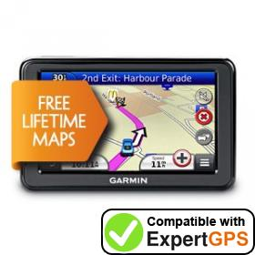 Download your Garmin nüvi 2445LM waypoints and tracklogs and create maps with ExpertGPS
