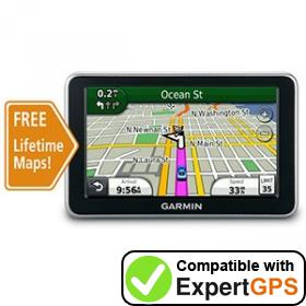 Download your Garmin nüvi 2450LM waypoints and tracklogs and create maps with ExpertGPS
