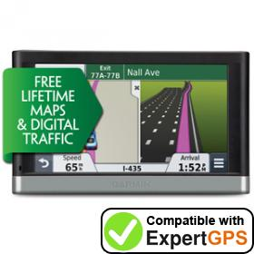 Download your Garmin nüvi 2548LMT-D waypoints and tracklogs and create maps with ExpertGPS