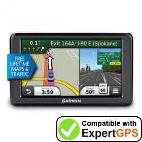 Download your Garmin nüvi 2555LMT waypoints and tracklogs and create maps with ExpertGPS