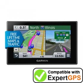 Download your Garmin nüvi 2559LMT waypoints and tracklogs and create maps with ExpertGPS