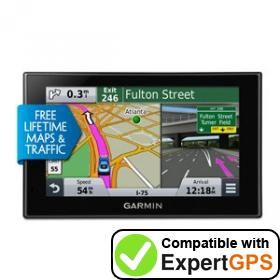 Download your Garmin nüvi 2599LMTHD waypoints and tracklogs and create maps with ExpertGPS