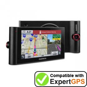 Download your Garmin nüviCam LMTHD waypoints and tracklogs and create maps with ExpertGPS