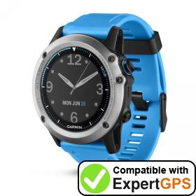 Download your Garmin quatix 3 waypoints and tracklogs and create maps with ExpertGPS
