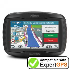 Download your Garmin zūmo 345LM waypoints and tracklogs and create maps with ExpertGPS