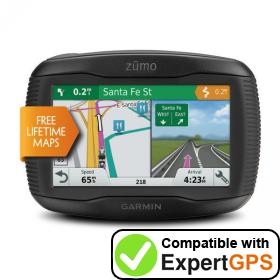 Download your Garmin zūmo 395LM waypoints and tracklogs and create maps with ExpertGPS