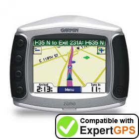 Download your Garmin zūmo 400 waypoints and tracklogs and create maps with ExpertGPS