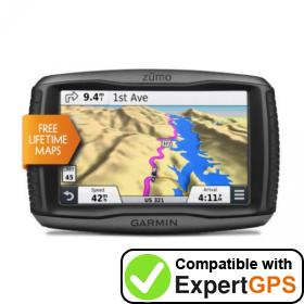 Download your Garmin zūmo 590LM waypoints and tracklogs and create maps with ExpertGPS