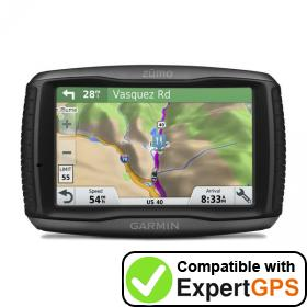 Download your Garmin zūmo 595LM waypoints and tracklogs and create maps with ExpertGPS