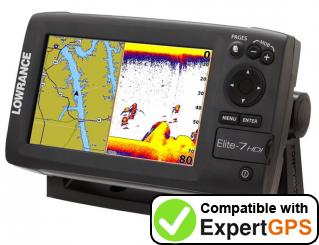 Download your Lowrance Elite-7 Broadband waypoints and tracklogs and create maps with ExpertGPS