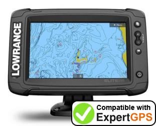Download your Lowrance Elite-7 Ti2 waypoints and tracklogs and create maps with ExpertGPS