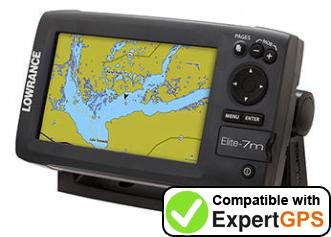 Download your Lowrance Elite-7m Gold waypoints and tracklogs and create maps with ExpertGPS
