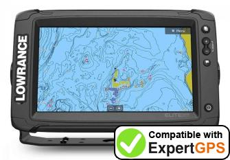 Download your Lowrance Elite-9 Ti2 waypoints and tracklogs and create maps with ExpertGPS