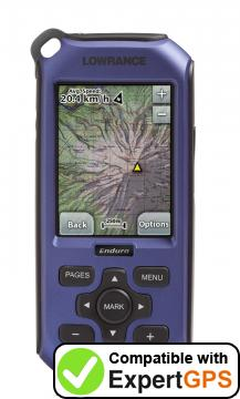 Download your Lowrance Endura Sierra waypoints and tracklogs and create maps with ExpertGPS
