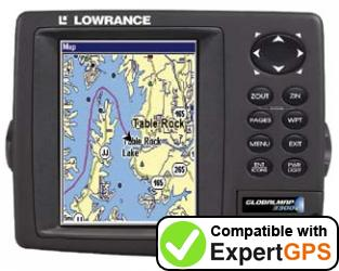 Download your Lowrance GlobalMap 3300C waypoints and tracklogs and create maps with ExpertGPS