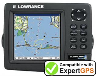 Download your Lowrance GlobalMap 3500C waypoints and tracklogs and create maps with ExpertGPS