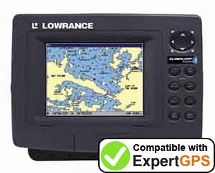 Download your Lowrance GlobalMap 5200C waypoints and tracklogs and create maps with ExpertGPS