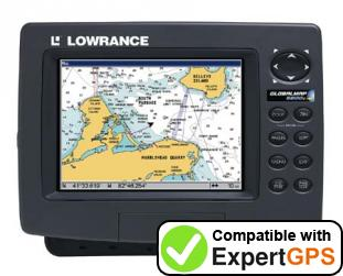 Download your Lowrance GlobalMap 6600C HD waypoints and tracklogs and create maps with ExpertGPS