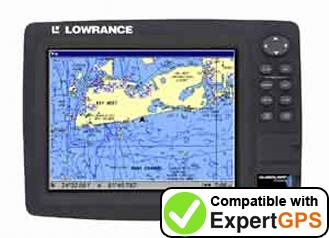 Download your Lowrance GlobalMap 7000C waypoints and tracklogs and create maps with ExpertGPS