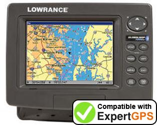 Download your Lowrance GlobalMap 7200C waypoints and tracklogs and create maps with ExpertGPS
