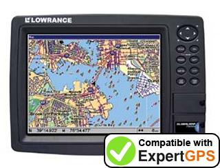 Download your Lowrance GlobalMap 7500C waypoints and tracklogs and create maps with ExpertGPS
