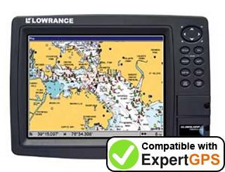 Download your Lowrance GlobalMap 7600C HD waypoints and tracklogs and create maps with ExpertGPS