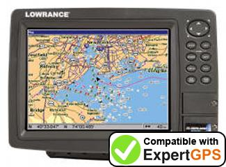 Download your Lowrance GlobalMap 8300C HD waypoints and tracklogs and create maps with ExpertGPS