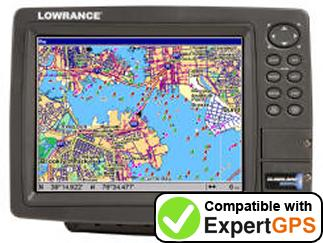 Download your Lowrance GlobalMap 9200C waypoints and tracklogs and create maps with ExpertGPS