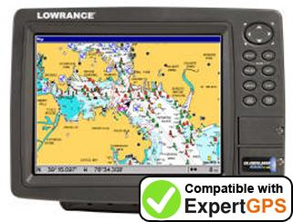 Download your Lowrance GlobalMap 9300C HD waypoints and tracklogs and create maps with ExpertGPS