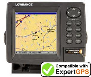 Download your Lowrance GlobalMap Baja 540C waypoints and tracklogs and create maps with ExpertGPS
