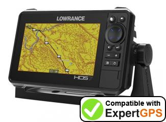 Download your Lowrance HDS-7 LIVE BAJA waypoints and tracklogs and create maps with ExpertGPS