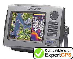 Download your Lowrance HDS-7 waypoints and tracklogs and create maps with ExpertGPS