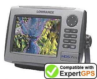 Download your Lowrance HDS-7m waypoints and tracklogs and create maps with ExpertGPS
