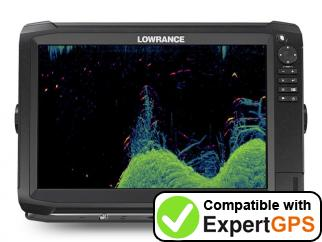 Download your Lowrance HDS Carbon 12 waypoints and tracklogs and create maps with ExpertGPS