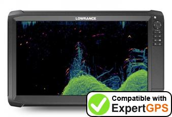 Download your Lowrance HDS Carbon 16 waypoints and tracklogs and create maps with ExpertGPS