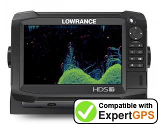 Download your Lowrance HDS Carbon 7 waypoints and tracklogs and create maps with ExpertGPS