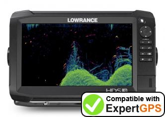 Download your Lowrance HDS Carbon 9 waypoints and tracklogs and create maps with ExpertGPS