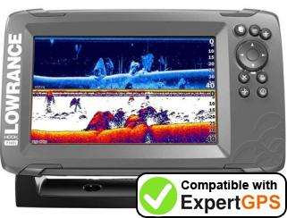 Download your Lowrance HOOK-7 waypoints and tracklogs and create maps with ExpertGPS