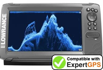 Download your Lowrance HOOK-9 waypoints and tracklogs and create maps with ExpertGPS