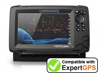 Download your Lowrance HOOK Reveal 7 waypoints and tracklogs and create maps with ExpertGPS