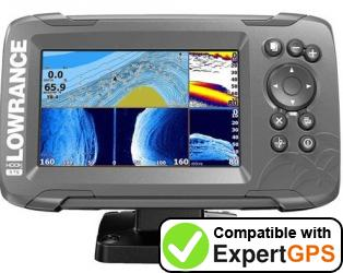 Download your Lowrance HOOK2-5 waypoints and tracklogs and create maps with ExpertGPS