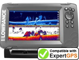 Download your Lowrance HOOK2-7 waypoints and tracklogs and create maps with ExpertGPS