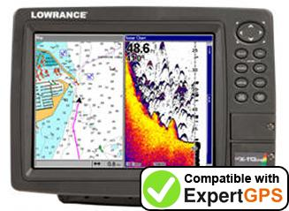 Download your Lowrance LCX-113C HD waypoints and tracklogs and create maps with ExpertGPS
