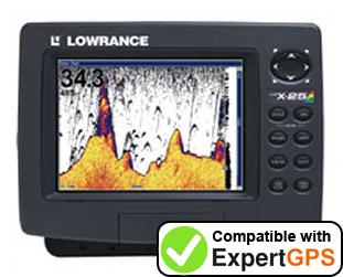 Download your Lowrance LCX-25C waypoints and tracklogs and create maps with ExpertGPS