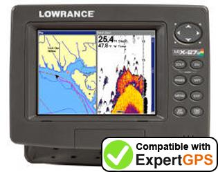 Download your Lowrance LCX-27C waypoints and tracklogs and create maps with ExpertGPS