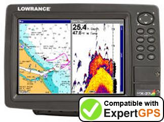 Download your Lowrance LCX-37C waypoints and tracklogs and create maps with ExpertGPS