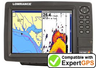 Download your Lowrance LCX-38C HD waypoints and tracklogs and create maps with ExpertGPS