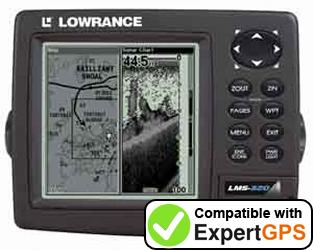 Download your Lowrance LMS-320DF waypoints and tracklogs and create maps with ExpertGPS